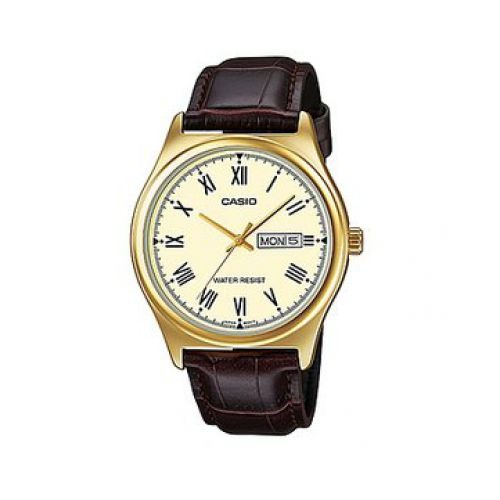Reloj Cuero 9b Mtp Marrón Casio v006gl Hombre 1KlJFc