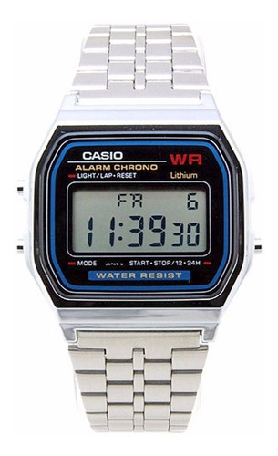 reloj casio hombre a-159wa-n1 acero inoxi. iluminación led
