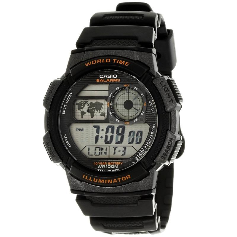 Alarma Mundial Sumergible100m Hombre 1000w Casio Reloj Ae 1a 35R4AjL