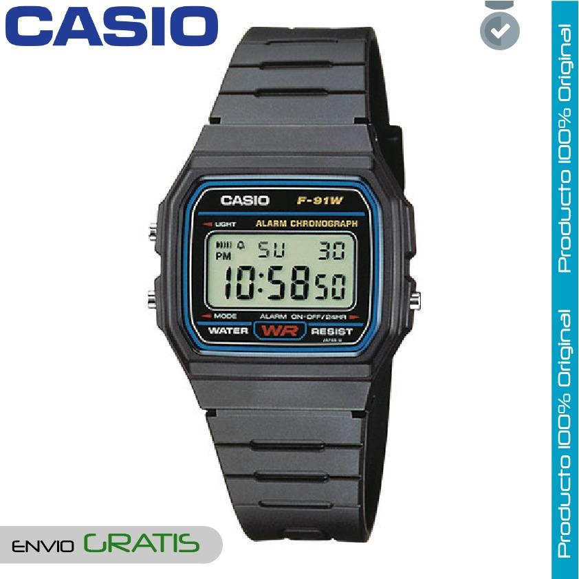 1b03322ddaaa reloj casio hombre digital clasico f91 negro 1 año garantia. Cargando zoom.