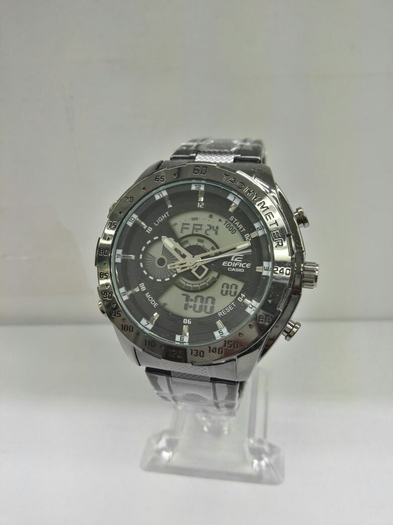Edifice Nuevo Oferta Hombre Hora Elegante Reloj Doble Casio FcKTlJ1
