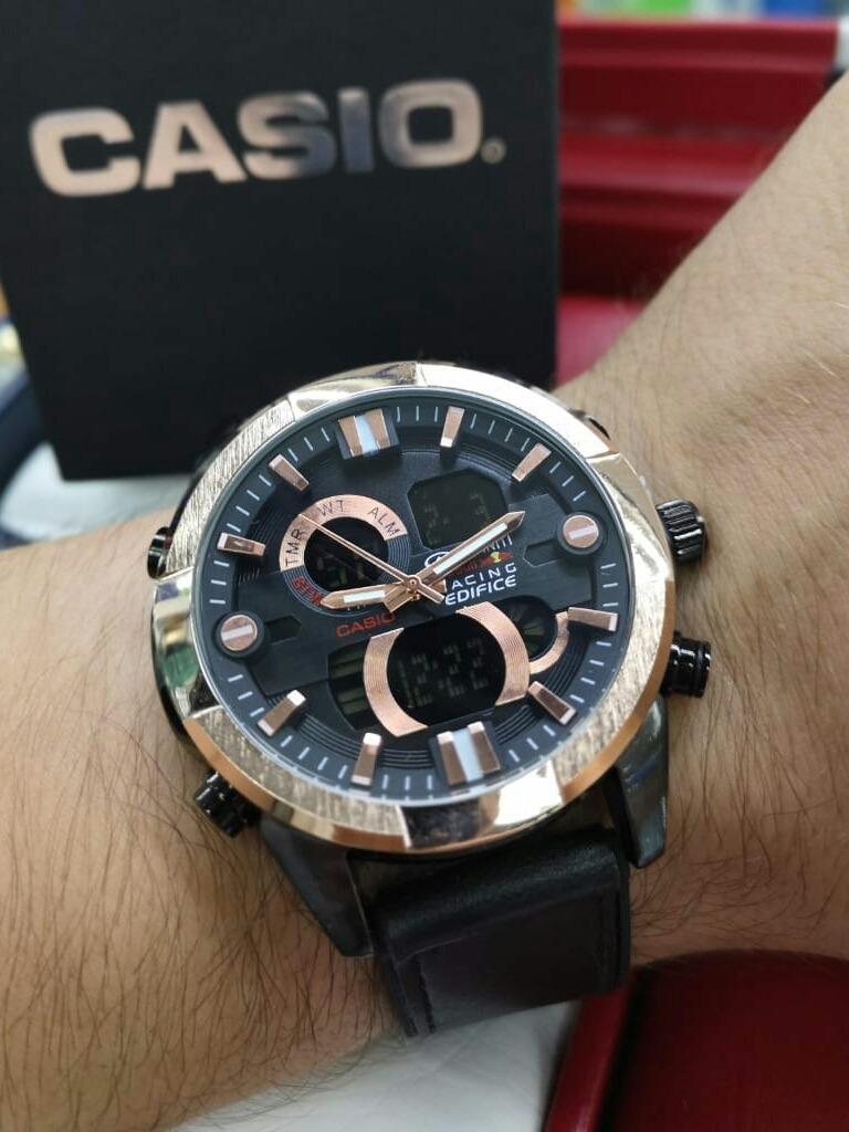 Hora Doble Cuero Pulso Hombre Elegante Reloj Casio mwOynN0v8