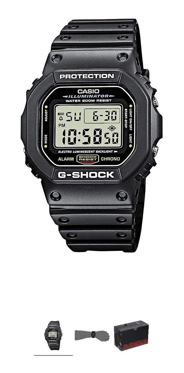 Wr Proteccion Hombre Shock Reloj Casio 200 Dw5600 Metros G 45jRLA
