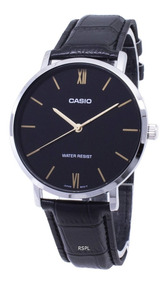 gran descuento 46d37 b258c Reloj Casio Hombre Mtp-vt01l Diseñoplano Cuero 100% Original