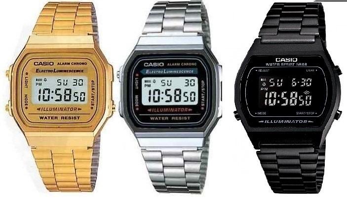 36f4c187d664 Reloj Casio Hombre Mujer Dorado Plata Negro Envio Gratis -   499.00 ...