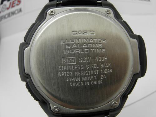 reloj casio hombre sgw 400 termómetro barometro altímetro