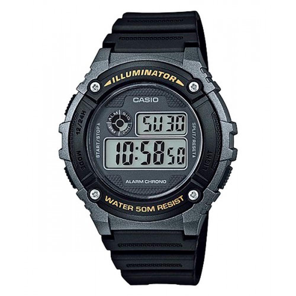 Reloj Casio Hombre W 216h 1b Digital Iluminador