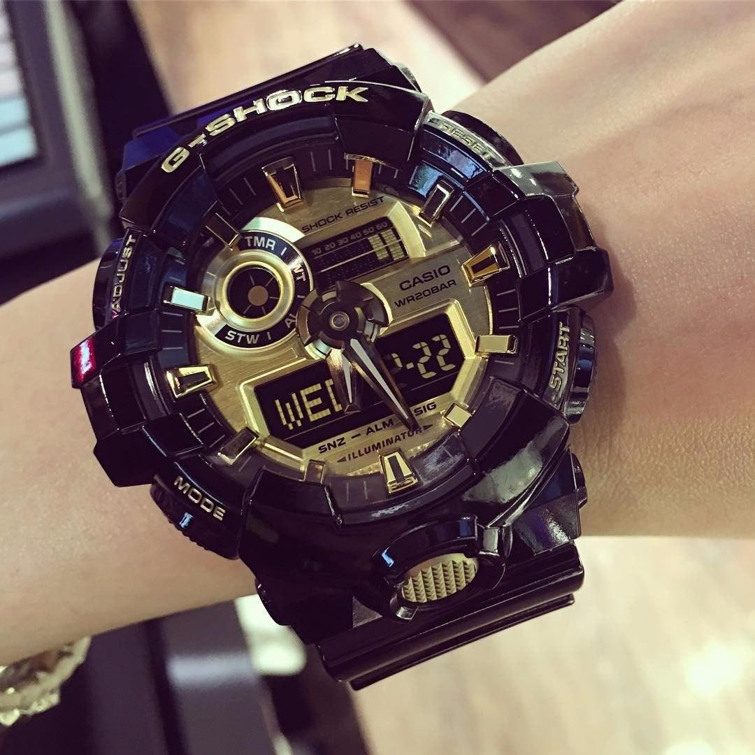 Reloj Casio Hombres G-shock Resina Dorado Negro Ga-710gb-1ac ... 623a813c2