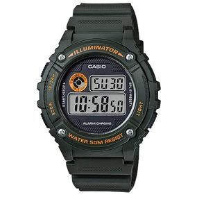 verde Naranja Reloj Con sumergible Casio Detalles En Hombre N0v8wOmn