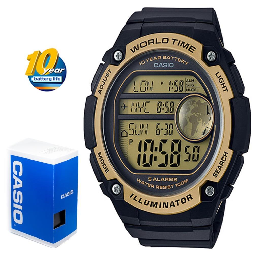 511424a956d Reloj Casio Hora Mundial Ae-3000w-9av