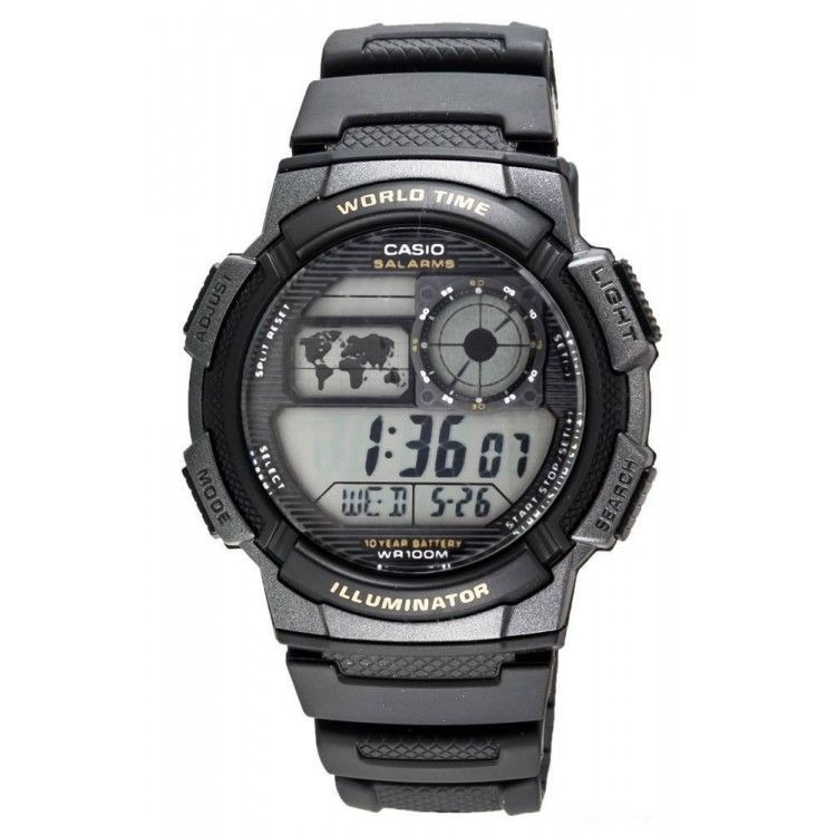 1346e4ba8eac Reloj Casio Illuminator Deportivo Y Casual Original Negro - Bs. 5.900