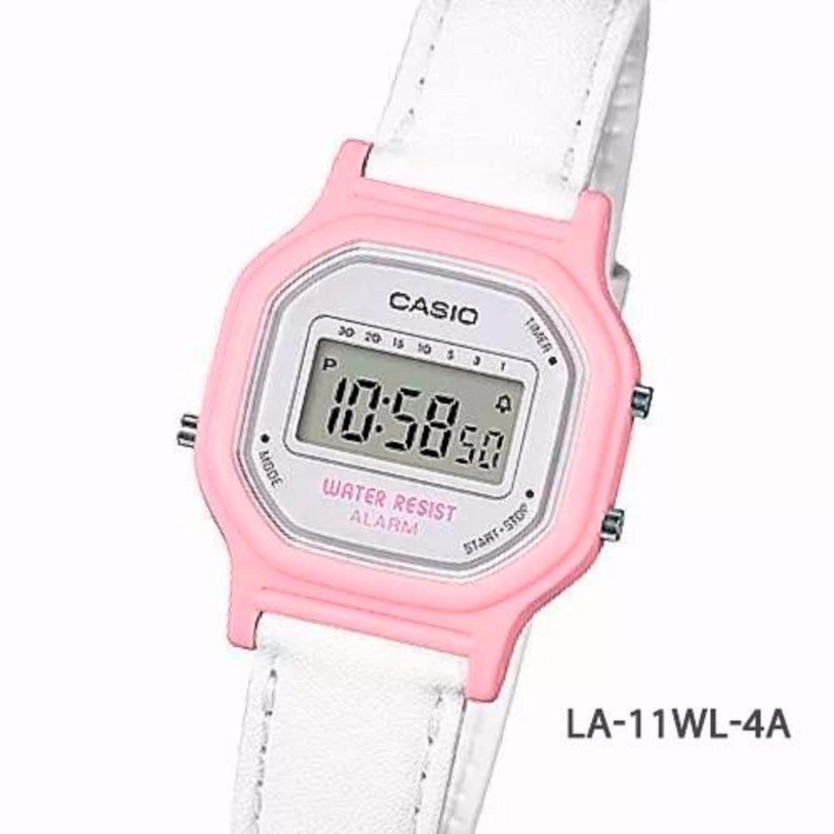 mejor selección 9970f fde58 Reloj Casio La-11wl-2a Blanco Y Rosado Para Niña