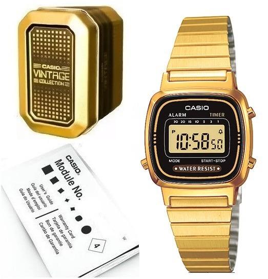286ffb134641 Reloj Casio La670 Dorado Clasico Retro -   899.00 en Mercado Libre