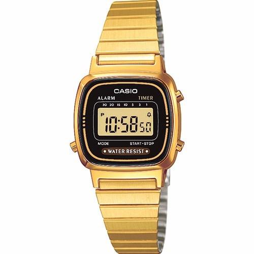 reloj casio la670 dorado para dama