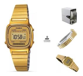 Dorado Casio Mujer Mini Full G9 Retro Reloj La670 UzVpSMq