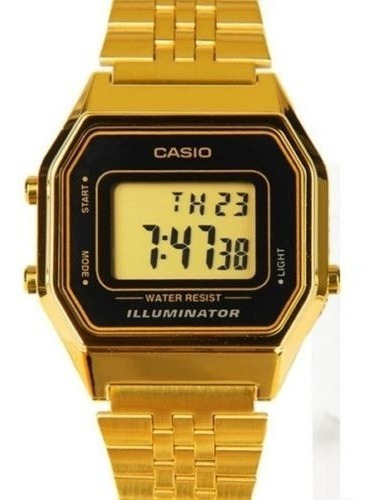 reloj casio la680wga-1d ladies mid-size gold tone digital