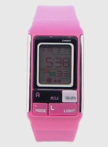 reloj casio ldf52-4a ladies pop tone pink fashion sports