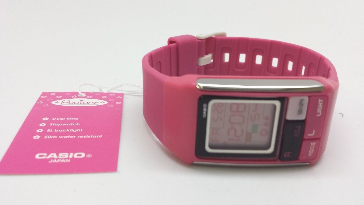 Reloj Casio Ldf52 4a Ladies Pop Tone Pink Fashion Sports 160000 Ldf 52 Original Cargando Zoom