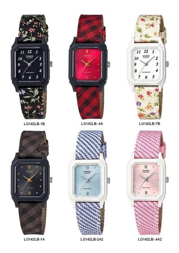 Casio Lq142 Lona Colores Reloj Dama Varios OkTPiwXZul