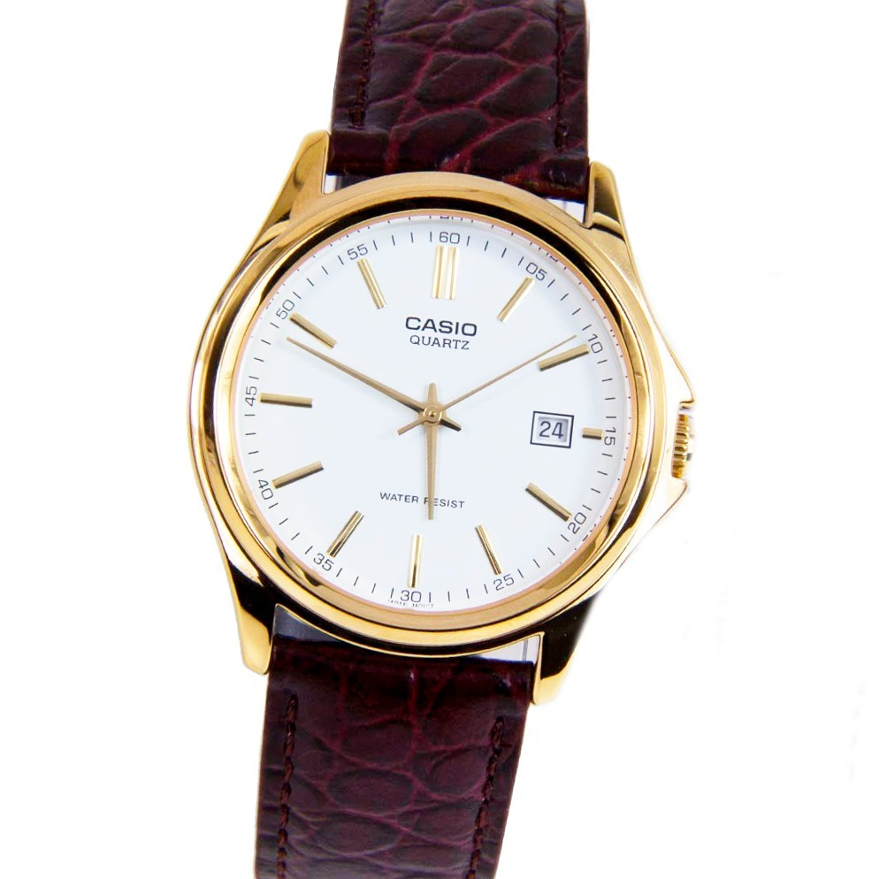 5f71f9eefe84 reloj casio ltp-1183q 7a carcasa acero malla cuero wr. Cargando zoom.