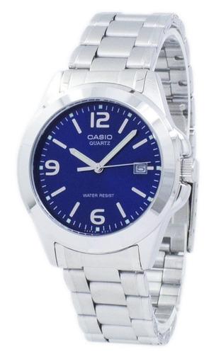 reloj casio ltp-1215a-2a para dama elegante con calendario