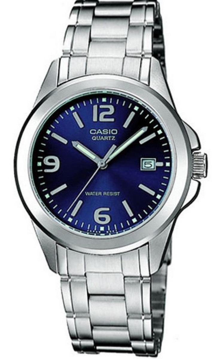 2b447f88ca59 reloj casio ltp-1215a-2a plateado fondo azul para mujer. Cargando zoom.