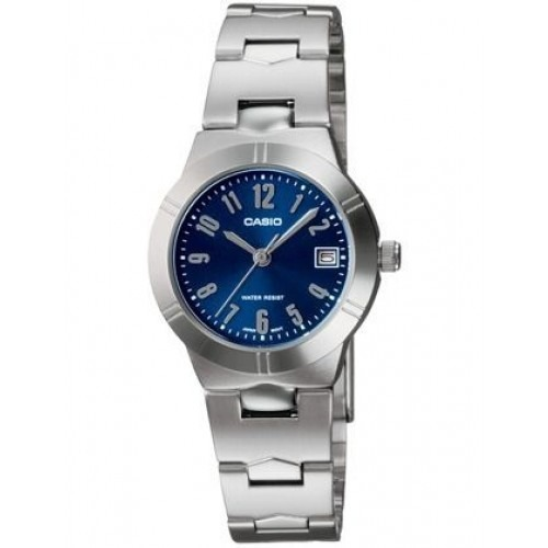 befe43ccc2f3 Reloj Casio Ltp-1241d-2a2 Plateado Fondo Azul Para Mujer -   79.900 en  Mercado Libre