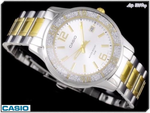 reloj casio ltp-1359sg-7a p/ dama+ligero+modern+mineral glas