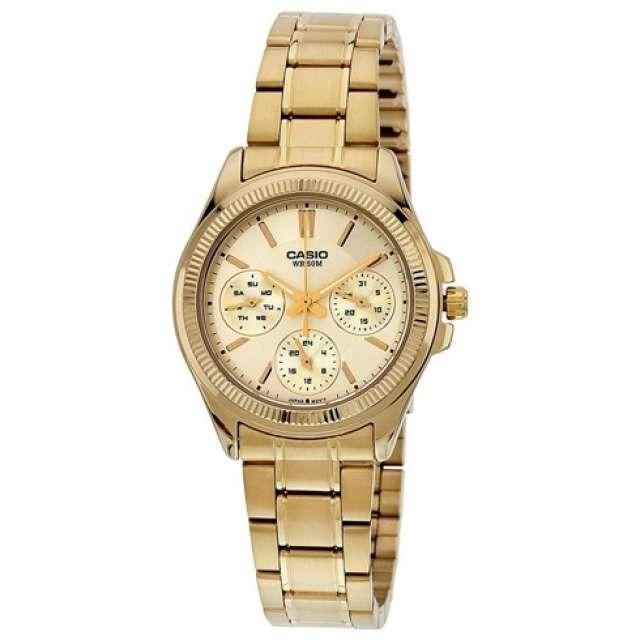 6165025bc3fe Reloj Casio Ltp-2088g-9a-dorado Con Plateado Para Mujer -   209.900 en  Mercado Libre
