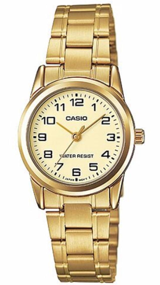 f59d1211eb55 Reloj Casio Ltp-v001g-9b Dorado Para Mujer -   89.900 en Mercado Libre