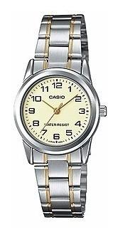 reloj casio ltp-v001sg-9b análogo resistente al agua