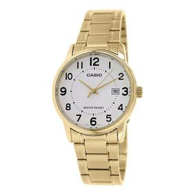 Reloj Calendario Gatia Casio Dama Original Ltp Dorado V002g hBQdCtsrx