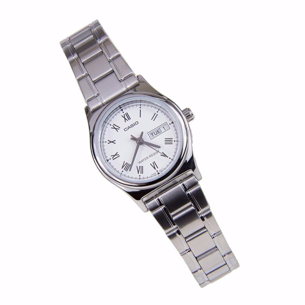 763e6d751b41 Reloj Casio Ltp-v006d-2b Plateado Para Dama -   89.900 en Mercado Libre