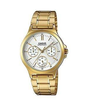 reloj casio ltp-v300g-7a dorado para mujer