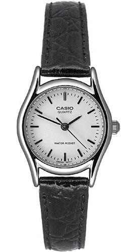 reloj casio ltp1094e-7ardf para dama con corea de piel.