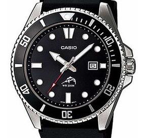 Reloj Casio Mdv1061a Hombre Diver Negro Malla Resina 200m.