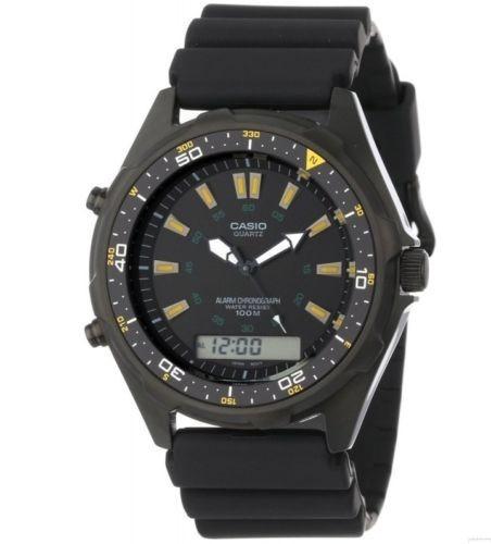 reloj casio men's dive ana-digi cronografo resin strap amw36