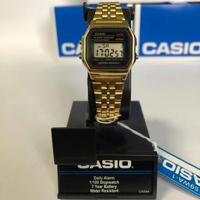 Original Caja Nuevo Dorado Reloj Mini Casio A159wa 1 En 54jAc3RLqS