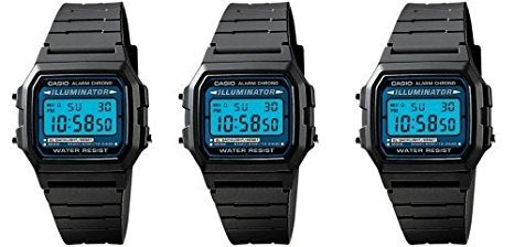 reloj casio  model f-105w masculino