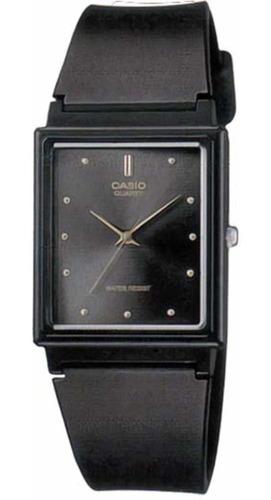 reloj casio mq38-1a mens black dial classic resin casual wat