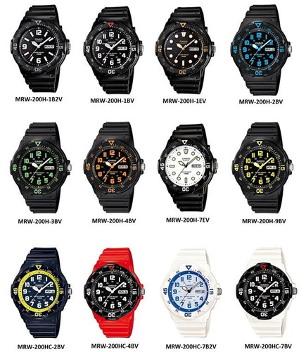 reloj casio mrw-200h-1b sport water local barrio belgrano