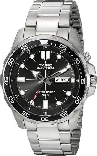 reloj casio mtd-1079d-1avcf plateado de cuarzo