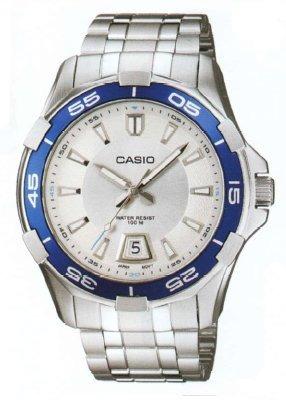 reloj casio  mtd d-7avdf - ww -plateado