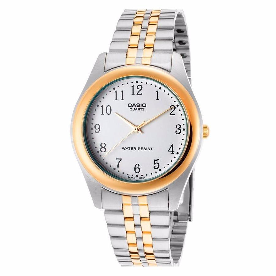ca0e22792a51 reloj casio mtp 1129g-1 acero inoxidable plateado original. Cargando zoom.