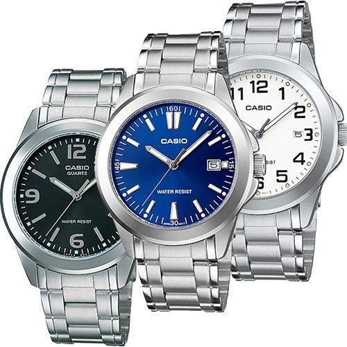 647957958aac Reloj Casio Mtp 1215 Metal Cara Azul Cristal Mineral - Fecha ...