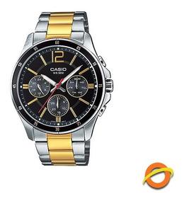 Reloj Casio Mtp 1374sg Acero Inoxidable Con Fecha Wr 50m