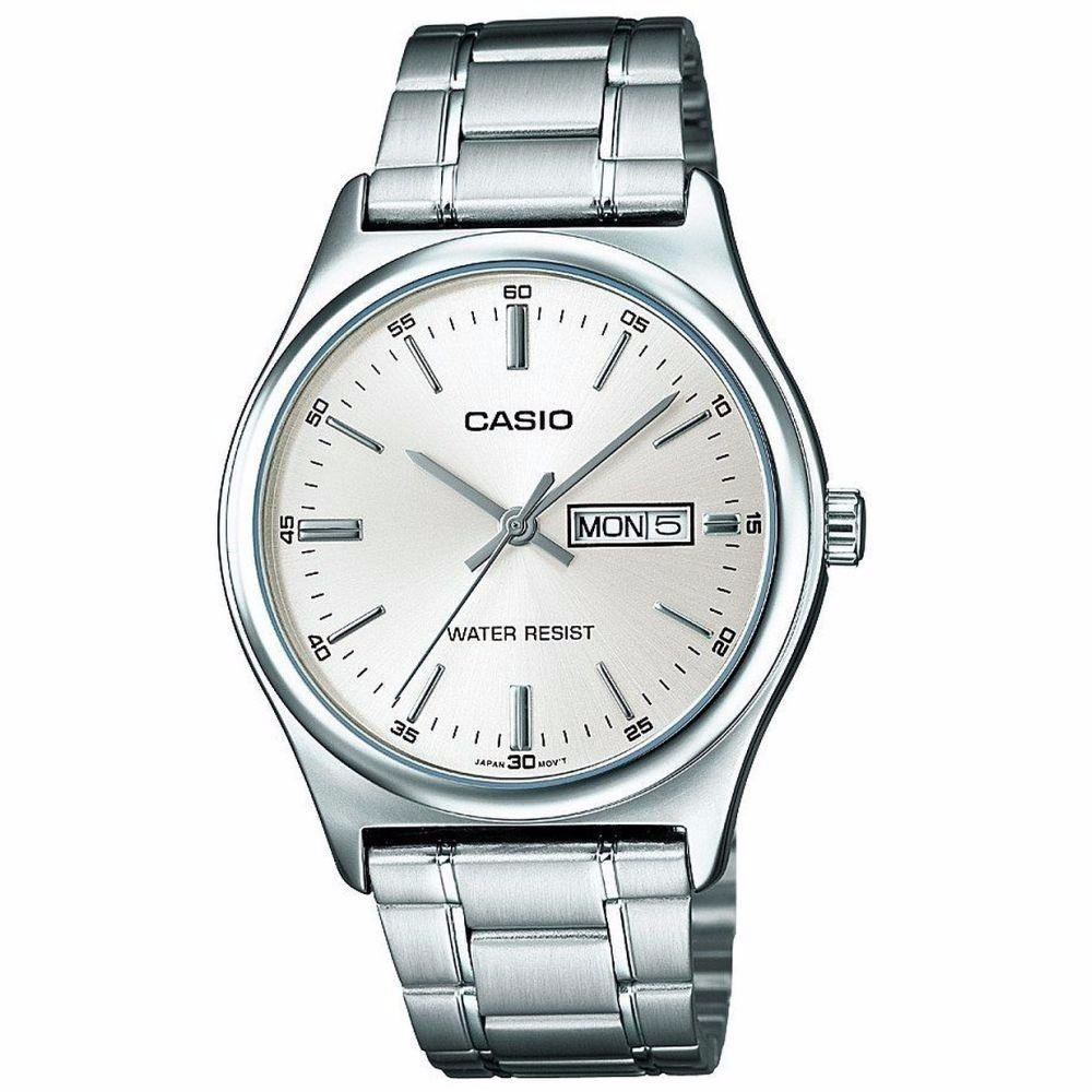 4746d69ccb67 Reloj Casio Mtp V003d Acero Inoxidable Plateado Original -   132.490 ...