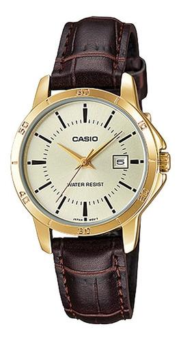 reloj casio mtp-v004l hombre cuero calendario 100% original