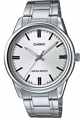 reloj casio mtp-v005d-7a acero inoxidable plateado hombre