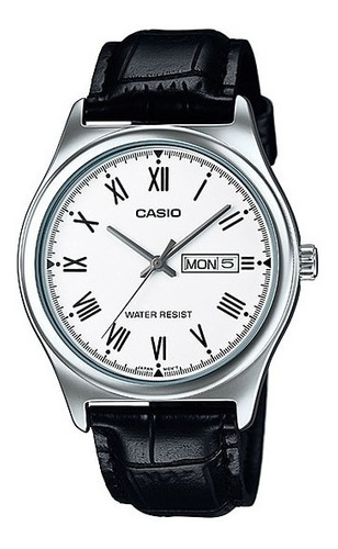 reloj casio mtp-v006l hombre cuero calendario 100%original